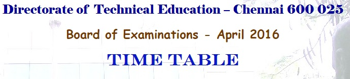 TNDTE-Diploma-Time-Table-2016