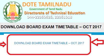 TNDTE-Diploma-Exams-October-2017-Time-Table