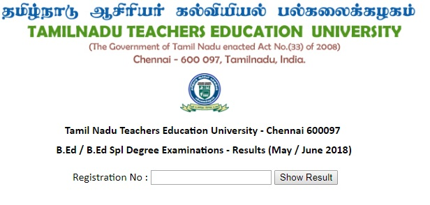 TNTEU-BED-BED-SPL-Results-May-2018
