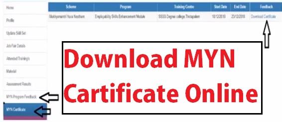 MYN-Certificate-Downloading-Process